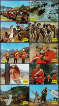 """Movie Posters:War, Zulu (Paramount, 1964). French Lobby Card Set of 10 (9.5"""" X 13"""").War.. ... (Total: 10 Items)"""