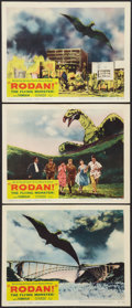 "Movie Posters:Science Fiction, Rodan! The Flying Monster (Toho/ DCA, 1957). Lobby Cards (3) (11"" X14""). Science Fiction.. ... (Total: 3 Items)"