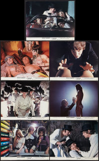 "A Clockwork Orange (Warner Brothers, 1971). British Front of House Lobby Cards (7) (8"" X 10""). Science Fiction..."