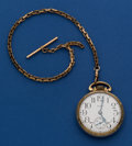 Timepieces:Pocket (post 1900), Elgin 17 Jewel 16 Size Pocket Watch With Chain . ...