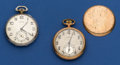 Timepieces:Pocket (post 1900), Two Illinois 17 Jewel 12 Size Pocket Watches Runners. ... (Total: 2 Items)