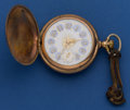 Timepieces:Pocket (post 1900), Waltham 18 Size With Rare O'Hara Fancy Dial Pocket Watch. ...