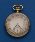Timepieces:Pocket (post 1900), Gruen 14k Gold Veri-thin Pocket Watch. ...