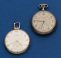 Timepieces:Pocket (post 1900), Two Runners, 21 Jewel Gold Filled Elgin, 19 Jewel Sterling WalthamPocket Watches. ... (Total: 2 Items)