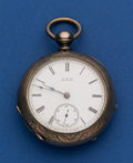 Timepieces:Pocket (pre 1900) , Waltham 4 Ounce Coin Silver Key Wind Pocket Watch. ...