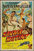 "Movie Posters:Adventure, Savage Mutiny (Columbia, 1953). One Sheet (27"" X 41""). Adventure....."