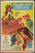 "Movie Posters:Adventure, The Last of the Mohicans (Producers Releasing, R-1947). One Sheet(27"" X 41""). Adventure.. ..."