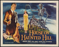 """House on Haunted Hill (Allied Artists, 1959). Half Sheet (22"""" X 28""""). Horror"""