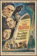 "Movie Posters:Horror, The Raven (American International, 1963). One Sheet (27"" X 41""). Horror.. ..."