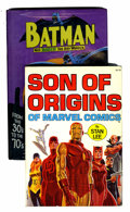 Books:Hardcover, Son of Origins/Batman: From the 30's to the 70's Group (Simon and Schuster/Bonanza, 1975).... (Total: 2 Items)