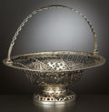 Silver Holloware, British:Holloware, A GEORGE III SILVER RETICULATED BASKET . Maker unidentified,London, England, circa 1805-1806. Marks: (lion passant), (leopa...