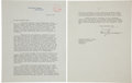 Autographs:U.S. Presidents, Harry Truman Typed Letter Signed as President. ...
