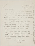 """Autographs:Celebrities, Amelia Earhart Autograph Letter Signed """"Amelia"""" with aPostscript signed """"AE"""". ..."""