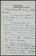 Autographs:Authors, Charles Dickens Autograph Letter Signed. ...