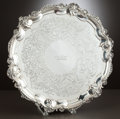 Silver Holloware, American:Platters, A GEORGE III SILVER SALVER . John Wakelin & William Taylor,London, England, circa 1788-1789. Marks: (lion passant), (leopar...