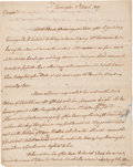 Autographs:Statesmen, [Aaron Burr] George Clinton Autograph Letter Signed as vicepresident. Two pages, Washington, D.C., March 11, 1807. Vice...