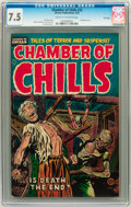 Golden Age (1938-1955):Horror, Chamber of Chills #22 File Copy (Harvey, 1954) CGC VF- 7.5 Cream tooff-white pages....