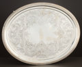 Silver Holloware, American:Trays, AN AMERICAN COIN SILVER FOOTED OVAL TRAY . Shreve & Co., SanFrancisco, California, circa 1865. Marks: SHREVE, SANFRANCIS...