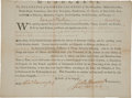 Autographs:Statesmen, John Hancock Military Appointment as President of the ContinentalCongress Signed in 1776....