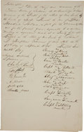 Autographs:Statesmen, Seneca Nation Document Signed by Eleven Chiefs Including RedJacket, Corn Planter, Black Snake, Capt Billy, and Young King. ...