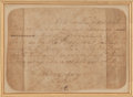 """Autographs:U.S. Presidents, George Washington Presidential Autograph Letter Signed in the Third Person. Signed """"the President"""" in the text, 1 p., 6...."""