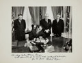 Autographs:Statesmen, Richard Nixon Oversized Photograph Inscribed to Supreme Court Justice Warren Burger. Black and white photograph, image measu...
