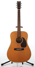 Musical Instruments:Acoustic Guitars, 1970s Fender F-65 Natural Dreadnought Acoustic Guitar, #481127....