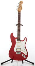 Musical Instruments:Electric Guitars, 1990s Fender Squier II Stratocaster Red Electric Guitar....