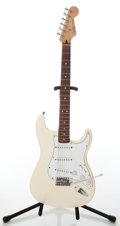 Musical Instruments:Electric Guitars, 2000s Fender Standard Stratocaster Arctic White Electric Guitar,#MZ0105643....