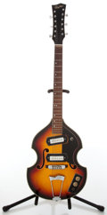 Musical Instruments:Electric Guitars, 1960s Bruno Royal Artist Hollow-Body Electric XII-String Guitar....