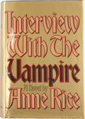 Books:Horror & Supernatural, Anne Rice. SIGNED BOOKPLATE. Interview with the Vampire. NewYork: Alfred A. Knopf, 1976. First edition. With ...