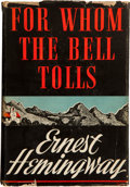 Books:Literature 1900-up, Ernest Hemingway. For Whom the Bell Tolls. New York: CharlesScribner's Sons, 1940.. First edition, first printing...