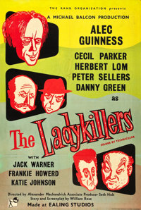 """The Ladykillers (Rank, 1955). British One Sheet (27"""" X 40"""")"""