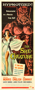 "Movie Posters:Science Fiction, The She-Creature (American International, 1956). Insert (14"" X36"").. ..."