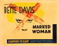 "Movie Posters:Crime, Marked Woman (Warner Brothers, 1937). Half Sheet (22"" X 28""). StyleA.. ..."