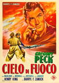 "Movie Posters:War, Twelve O'Clock High (20th Century Fox, 1949). Italian 2 - Foglio (39"" X 55"").. ..."