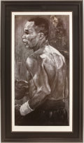 Boxing Collectibles:Autographs, Sugar Ray Leonard Signed Lithograph....