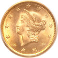 Gold Dollars, 1851 G$1 MS66 PCGS....