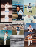 Baseball Collectibles:Photos, Baseball Stars and Hall of Famers Signed Photographs Lot of 13....