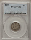 Bust Dimes, 1835 10C VG8 PCGS and a 1857-O 25C VG8 PCGS.... (Total: 2 )