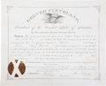 Autographs:U.S. Presidents, Grover Cleveland Partly Printed Document Signed as President. ...