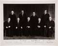 "Autographs:Statesmen, Burger Supreme Court Oversize Photograph Signed by All NineJustices. 14"" x 11"" with margins. Circa 1970s...."
