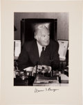 "Autographs:Statesmen, Chief Justice Warren Burger Signed B/W Photograph of. Image is 6.8""x 9.25"" mounted on a 10.25"" x 13"" piece of card stock...."