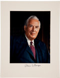 "Autographs:Statesmen, Chief Justice Warren Burger Signed Photograph of. Image is 7.5"" x9.5"" mounted on a 11"" x 14"" piece of card stock. Obtained ..."