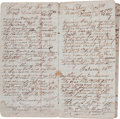 Autographs:Military Figures, Union Soldier's Diary. ...