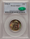 Washington Quarters, 1946-S 25C MS67 PCGS. CAC....
