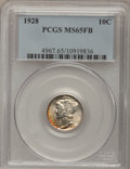 Mercury Dimes: , 1928 10C MS65 Full Bands PCGS. PCGS Population (218/126). NGCCensus: (97/34). Mintage: 19,480,000. Numismedia Wsl. Price f...