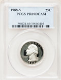 Proof Washington Quarters: , 1988-S 25C PR69 Deep Cameo PCGS. PCGS Population (2443/100). NGCCensus: (0/0). Numismedia Wsl. Price for problem free NGC...