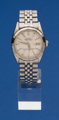 Timepieces:Wristwatch, Rolex Reference 1601 Vintage Steel Date Just. ...