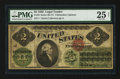 Large Size:Legal Tender Notes, Fr. 41 $2 1862 Legal Tender Serial Number 1 PMG Very Fine 25 Net.....
